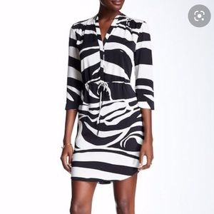 DVF Freya Zebra Print Silk Dress